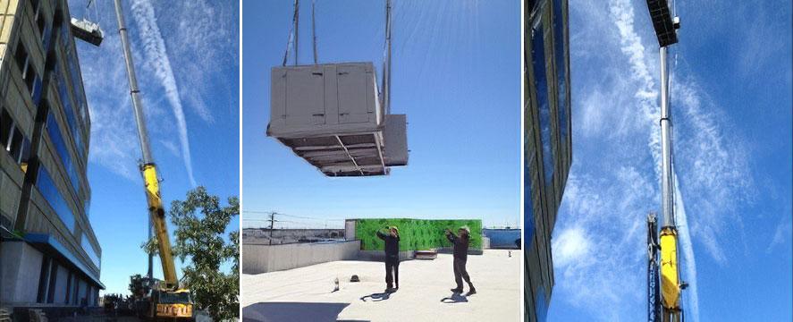 HVAC Crane Lifting
